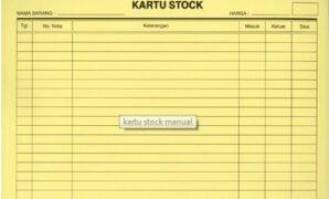 dokumen stock opname