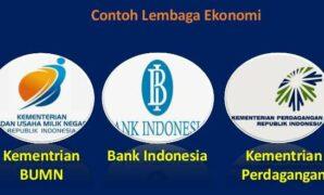 Contoh lembaga ekonomi
