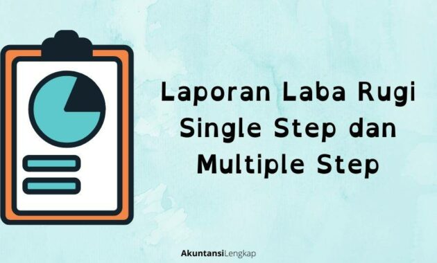 Laporan Laba Rugi Single Step dan Multiple Step