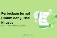 Perbedaan Jurnal Umum dan Jurnal Khusus
