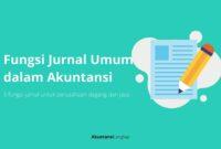 fungsi jurnal umum